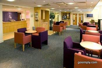 Reception at the Premier Inn Heathrow