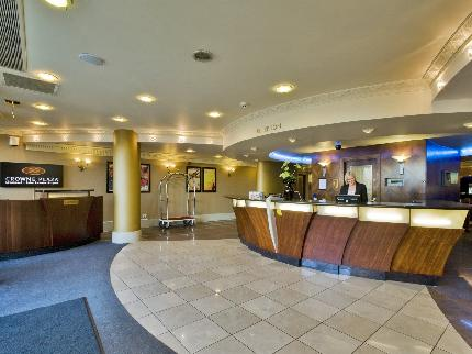 Reception area at the Liverpool Airport Crowne Plaza Hotel