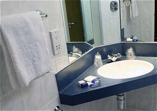 Guest bathroom at the Express by Holiday Inn Luton Airport