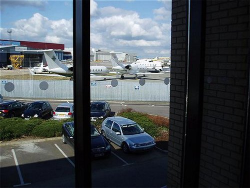 View from the Holiday Inn Express Luton Airport