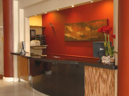 Menzies Strathmore Hotel reception desk
