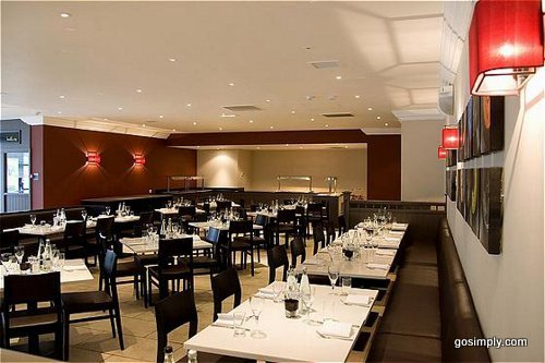 Hotel restaurant at the Crowne Plaza Hotel Manchester Airport