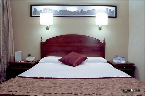 Guest room at the Crowne Plaza near Manchester Airport
