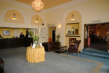 Durham Tees Valley Airport Saint George Hotel reception area