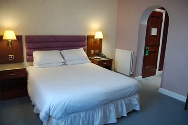 Double bedroom at the St George Hotel at Durham Tees Valley Airport