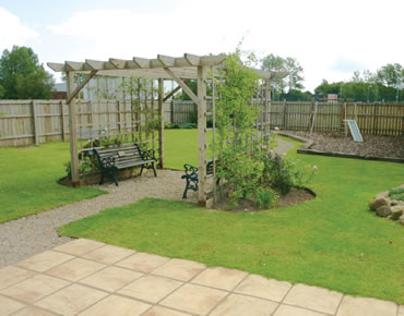 Garden area at the Teesside Airport St George Hotel