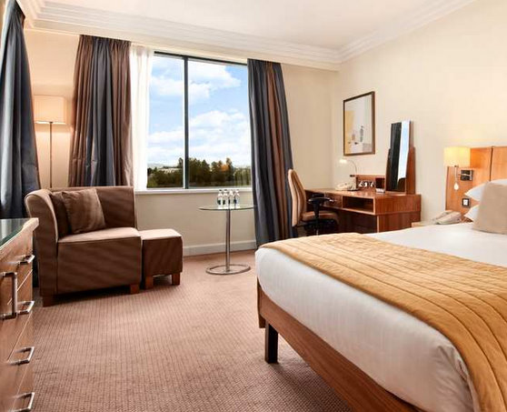 Double bedroom at the Dublin Airport Hilton Hotel