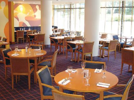 Dining area at the Britannia Hotel Leeds Bradford Airport