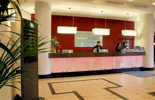 Reception area at the Birmingham Airport Holiday Inn Hotel