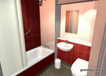 Gatwick Travelodge Hotel guest bathroom