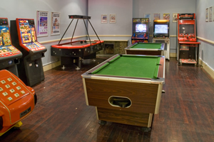 Games room at the Blackpool Airport Norbreck Castle Hotel