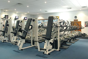 Hotel gym at the Norbreck Castle Hotel near Blackpool Airport