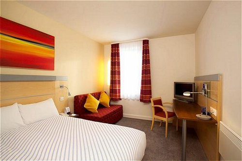 Guest bedroom at the Holiday Inn Express Liverpool Airport
