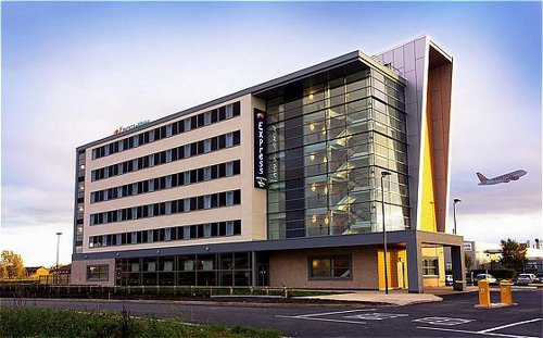 Exterior of the Holiday Inn Express Liverpool Airport