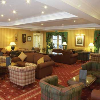 Hotel lounge at the Best Western Premier Yew Lodge East Midlands Airport