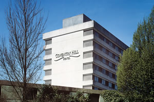Exterior of the Coventry Hill Hotel near Coventry Airport