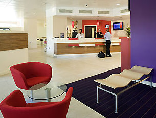 Birmingham Airport Ibis Hotel lobby and reception area