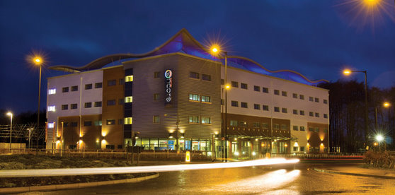 Exterior of the Ramada Encore Hotel for Doncaster Robin Hood Airport