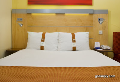 Guest room at the Holiday Inn Express for Belfast Airport
