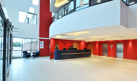 Ramada Encore NEC Hotel Birmingham Airport reception area