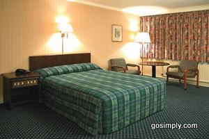 Guest room at the Britannia Hotel at Aberdeen Airport
