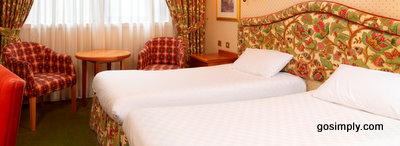 Twin bedroom at the Thistle Hotel Aberdeen Airport