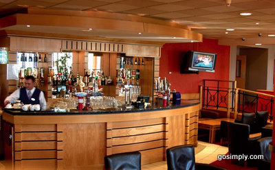Bar area at the Park Plaza Hotel Belfast Airport