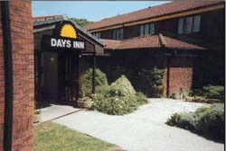Exterior of the Bristol Airport Days Inn Hotel