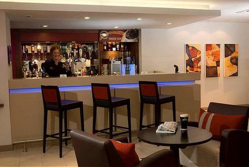 Hotel bar at the Holiday Inn Express East Midlands Airport