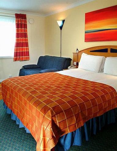 Guest room at the Express by Holiday Inn East Midlands Airport hotel