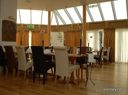 Dining area at the Gatwick Cambridge Hotel