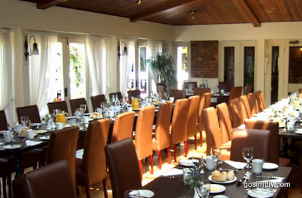 Dining room at the Gatwick Copthorne Hotel