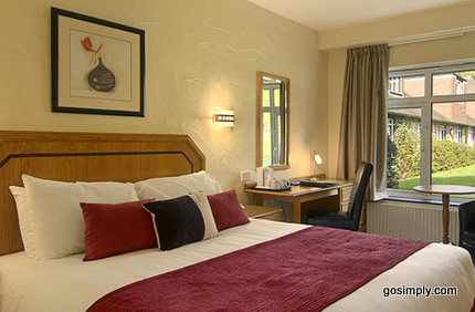 Guest room at the London Gatwick Copthorne Hotel