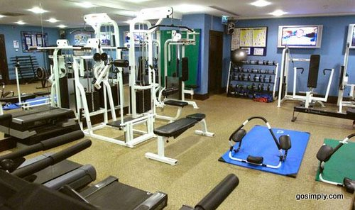 Gymnasium at the Crowne Plaza Hotel near Gatwick