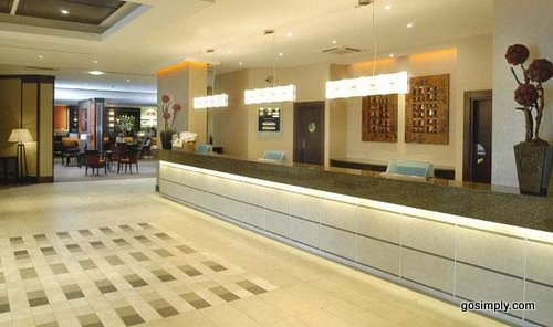 Gatwick Crowne Plaza Hotel reception