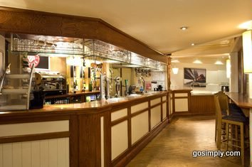 Hotel bar at the Premier Inn Central near Gatwick Airport