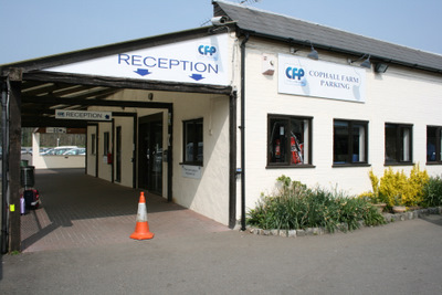 Reception at Cophall Farm Parking Gatwick