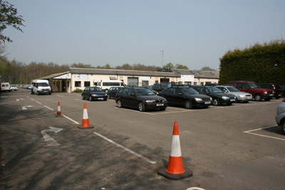 Tarmac surface at Cophall Farm Parking at Gatwick Airport