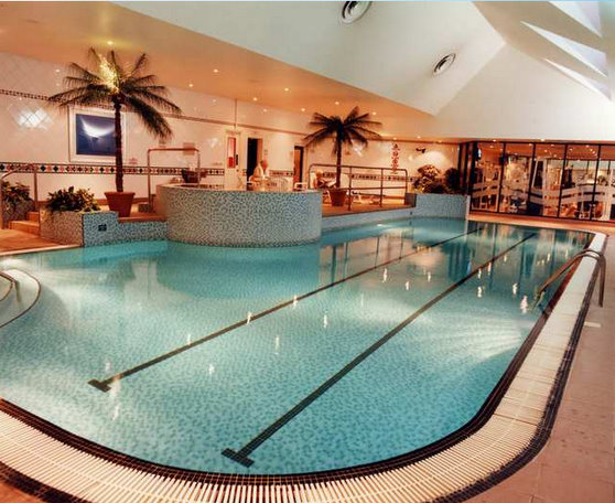 Swimming pool at the East Midlands Airport Hilton Hotel