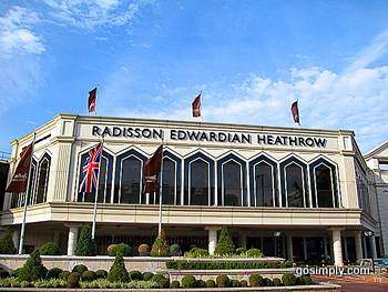 Exterior of the Radisson Edwardian Hotel at Heathrow Airport
