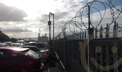 Security Fencing at Highwayman Parking Cardiff