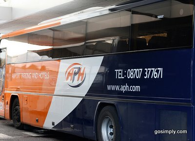 Transfer bus at APH Gatwick parking